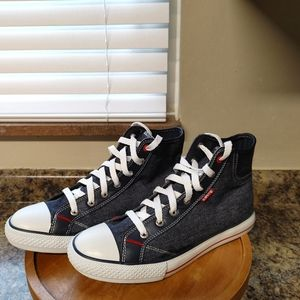 Vintage Levi's High Top Lace Up Sneakers
